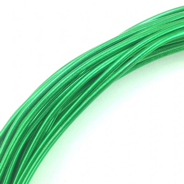 Aluminium wire - 10 metre coil - thickness 1mm - colour - mid green